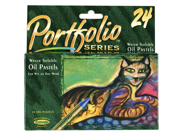 Crayola Portfolio Water Soluble Oil Pastel Set - 24 Per Package