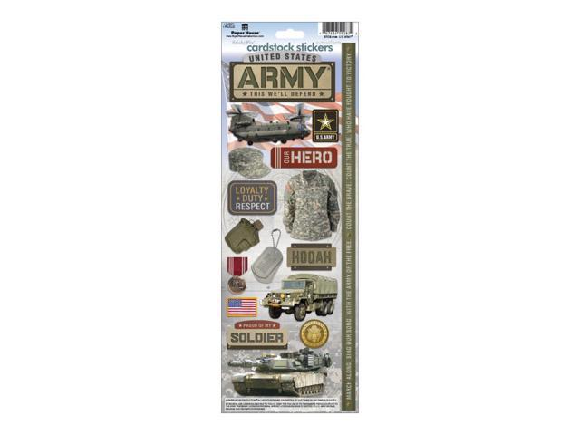 Cardstock Stickers-Army