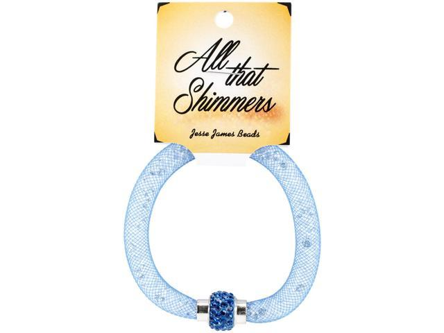 All That Shimmers Readymade Bracelets-Blue