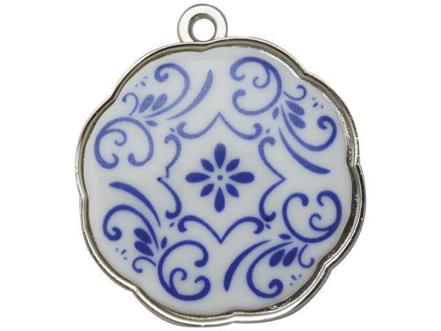 Silver Embellishments 10/Pkg-Floral Circle