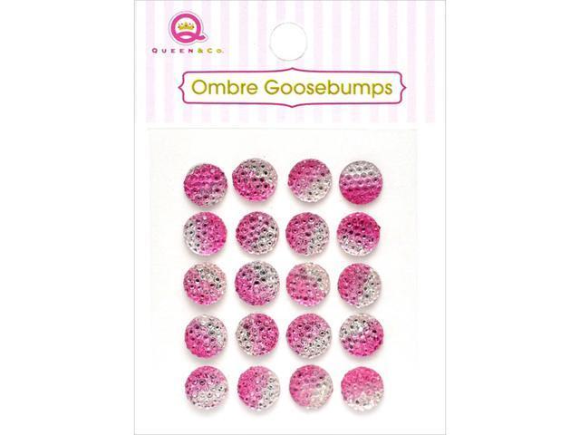 Ombre Goosebumps Self-Adhesive Embellishments 20/Pkg-Pink