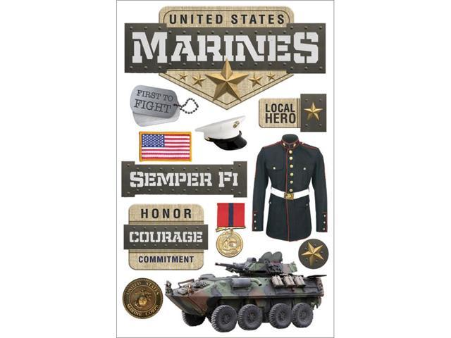 Paper House 3D Stickers-Marines