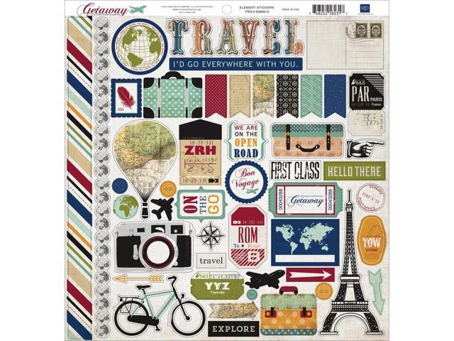 Getaway Cardstock Stickers 12
