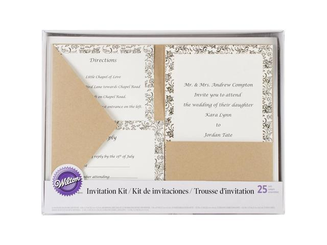 Invitation Kit Makes 25-Kraft