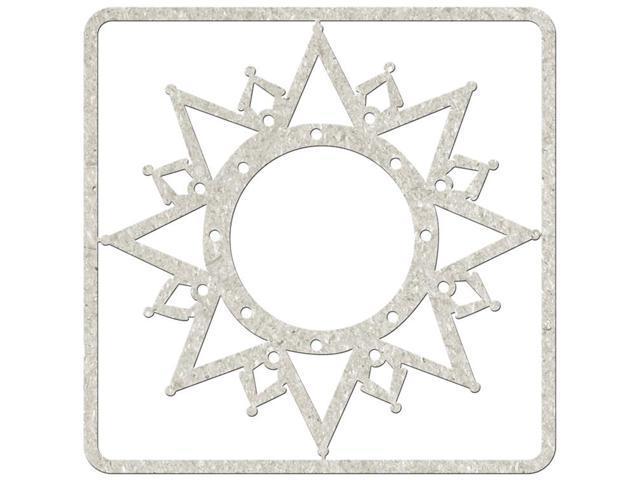 Die-Cut Gray Chipboard Embellishments-Christmas Star, 4.5