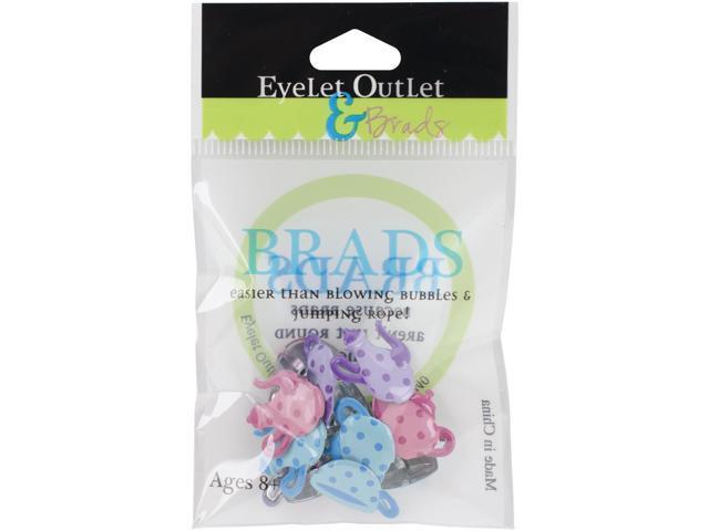 Eyelet Outlet Shape Brads 12/Pkg-Tea