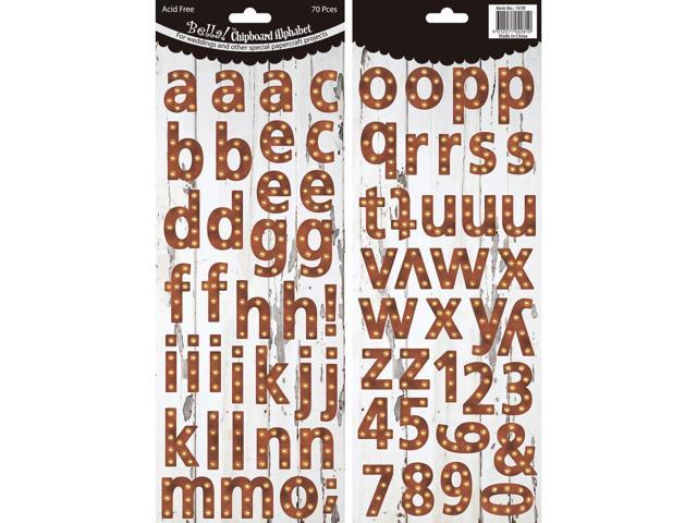 Bella! Wedding Chipboard Alphabet 70 Pieces-Industrial