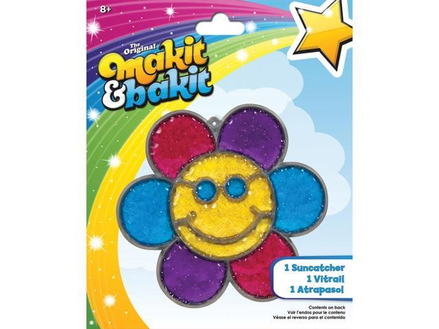 Makit & Bakit Suncatcher Kit-Glitter Smiley Face Flower