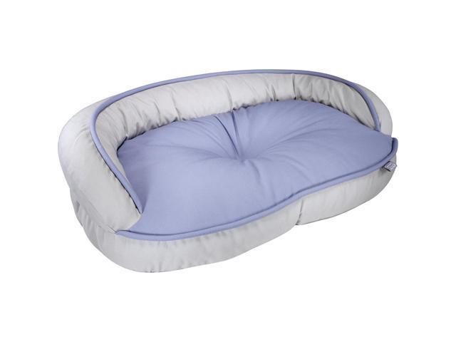 Loved Ones Constant Comfort Bolster Pet Bed-Medium-Blue-32.75