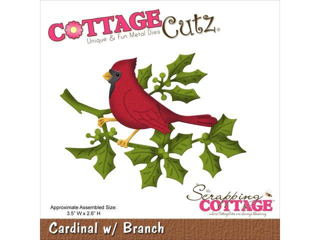 Cottagecutz Die-Cardinal W/Branch