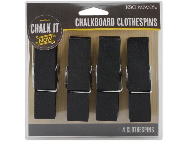 Chalk It Now Large Chalkboard Clothespins 4/Pkg-
