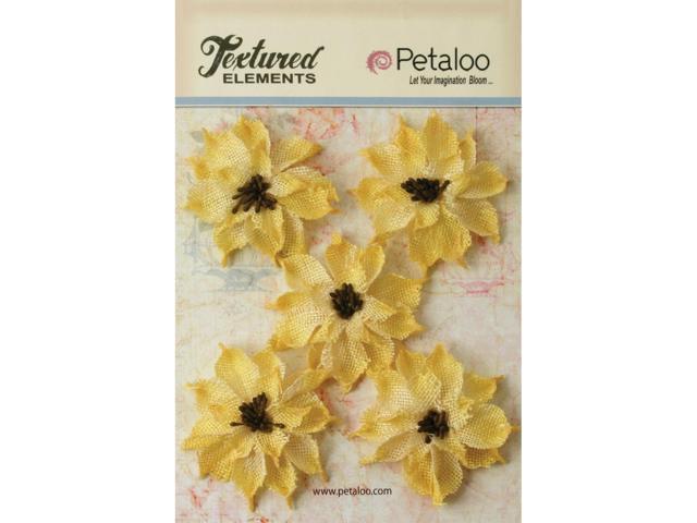 Textured Elements Burlap Wild Sunflowers 2.5