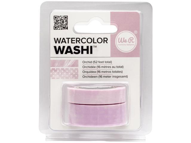 We R Watercolor Washi Tape 2/Pkg-Orchid