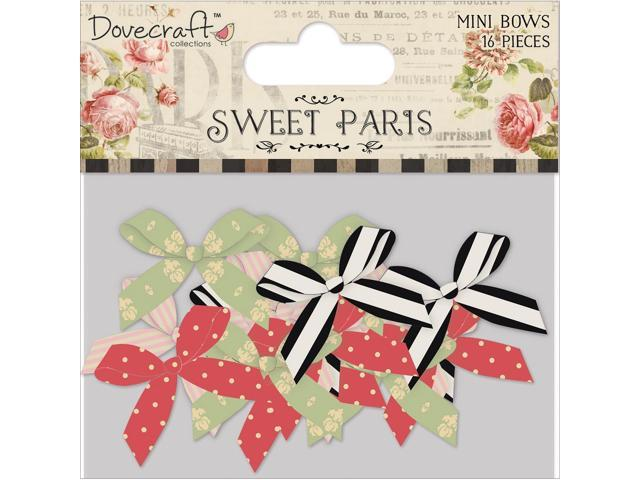 Sweet Paris Mini Pearl Center Satin Bows 16/Pkg-