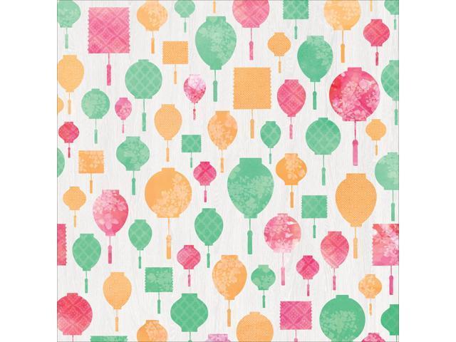 Cherry Blossom Spot Varnish Cardstock 12