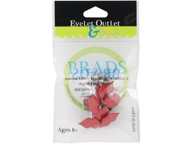 Eyelet Outlet Shape Brads 12/Pkg-Lip