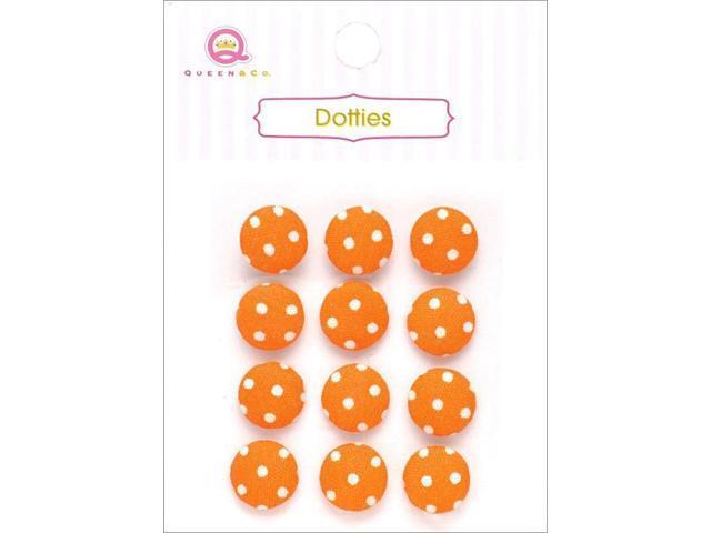 Dotties Self-Adhesive Fabric Dots 12/Pkg-Orange