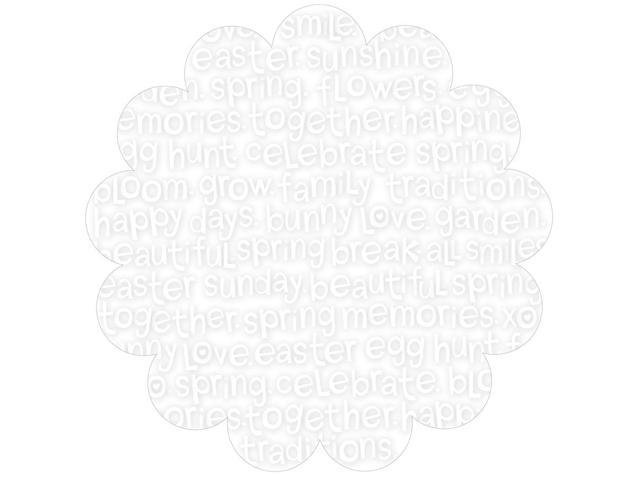 Simply Spring Invisibles Die-Cut Plastic Sheet 12