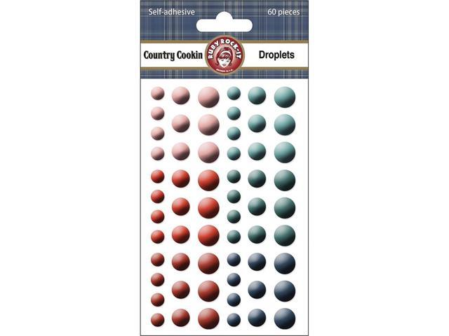 Country Cookin' Self-Adhesive Droplets 60/Pkg-Round