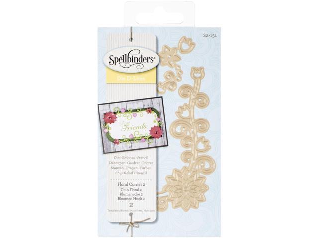 Spellbinders Shapeabilities Die D-Lites-Floral Corner 2