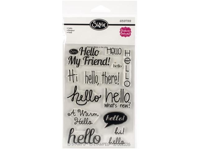 Sizzix Clear Stamps By Stephanie Barnard-Hello
