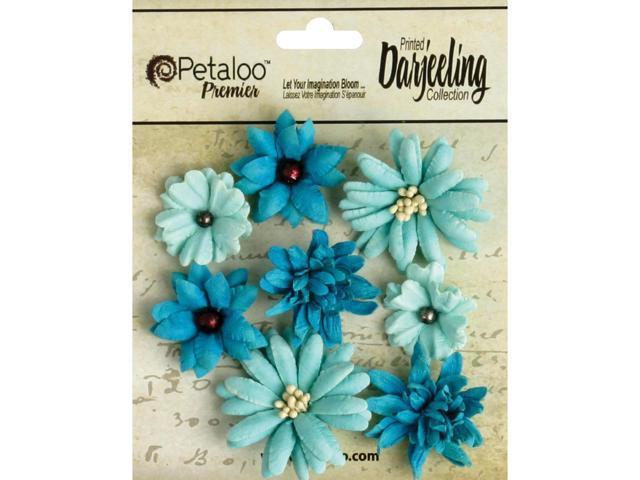 Darjeeling Teastained Mini Mix Flowers .75