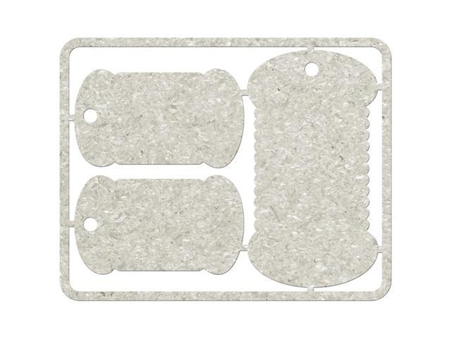 Die-Cut Gray Chipboard Embellishments-3 Cotton Reel Tags, 5