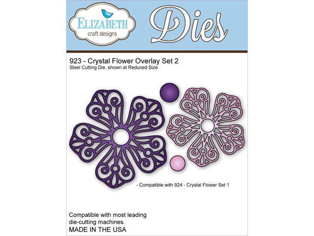 Elizabeth Craft Metal Die-Crystal Flower Overlay Set 2