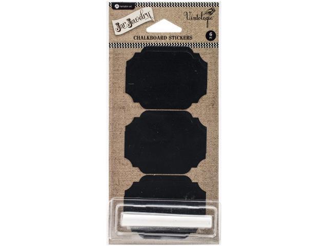 Chalkboard Stickers 6/Pkg-Rectangle