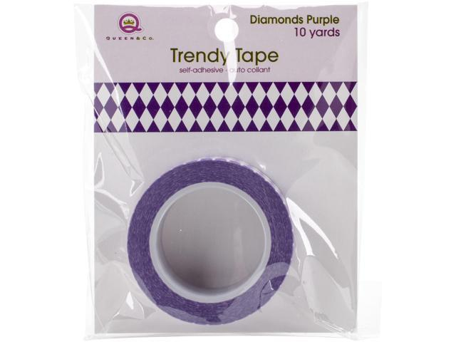 Queen & Co. Trendy Tape-Diamonds Purple