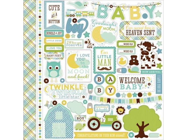 Bundle Of Joy/A New Addition Cardstock Stickers 12