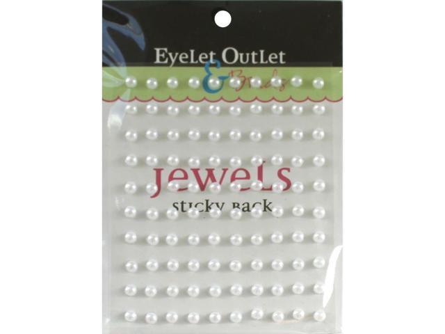 Bling Self-Adhesive Pearls 5Mm 100/Pkg-White