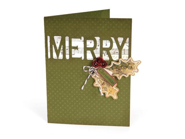 Sizzix Thinlits Die-Card W/Merry Cut-Out 5.5