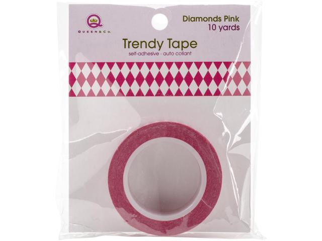 Queen & Co. Trendy Tape-Diamonds Pink