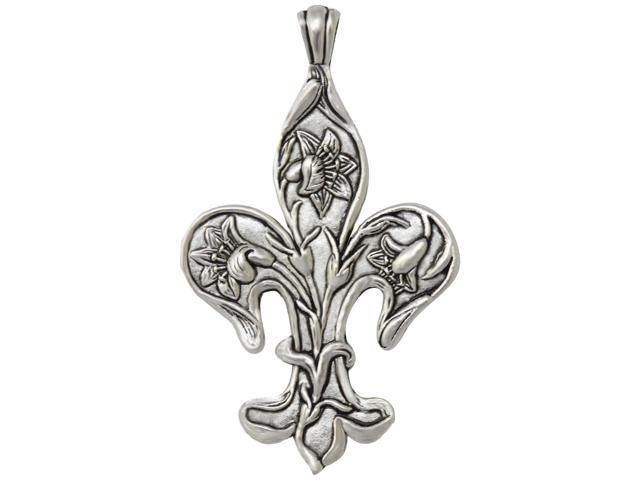 Silver Embellishments 15/Pkg-Large Fleur