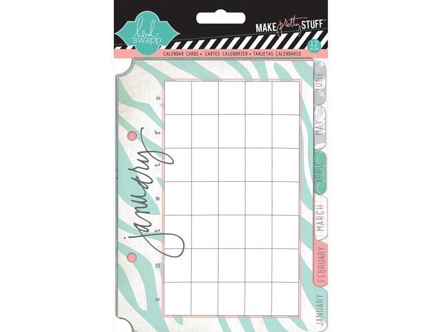 Heidi Swapp Mixed Media Calendar Cards 5