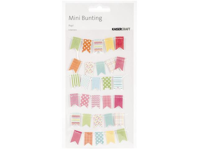 Pop! Mini Bunting Banners 6/Pkg-