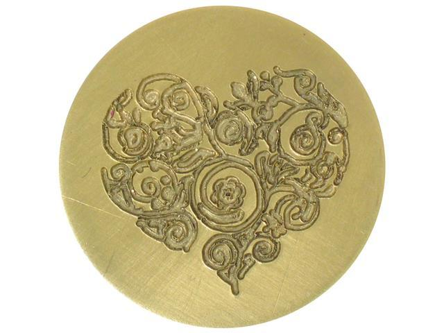 Large Decorative Seal Coin-Ornate Heart