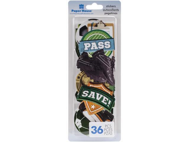 Paper House Die-Cut Sticker Pack 36/Pkg-Soccer