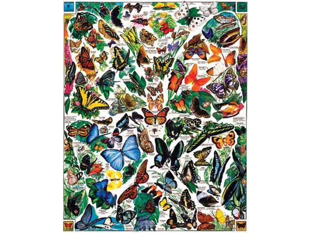 Butterflies Of The World 1000 Piece Puzzle by White Mountain Puzzles