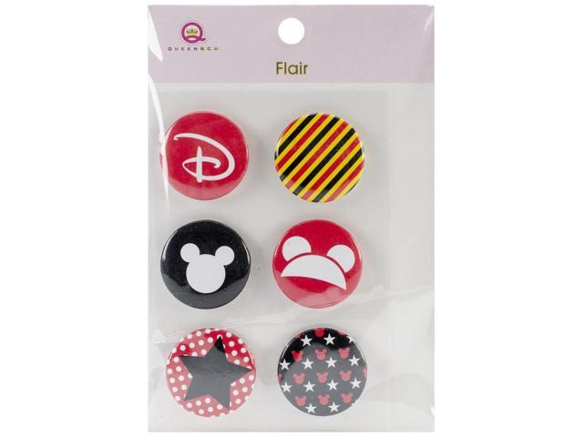 Magic Flair Self-Adhesive Tin Badges 6/Pkg-#1
