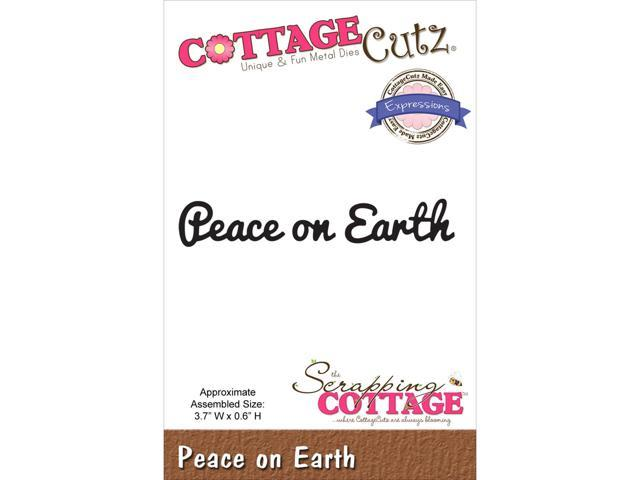 Cottagecutz Expressions Die-Peace On Earth