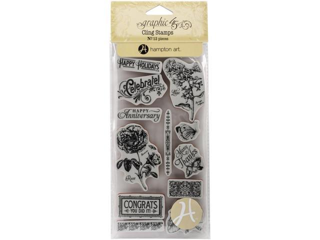 Graphic 45 Time To Flourish Cling Stamps-#2