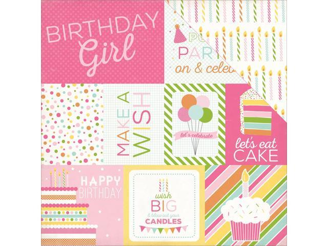 Birthday Wishes Girl Double-Sided Cardstock 12