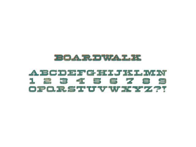 Sizzix Sizzlits Decorative Strip Die By Tim Holtz-Boardwalk Alphabet