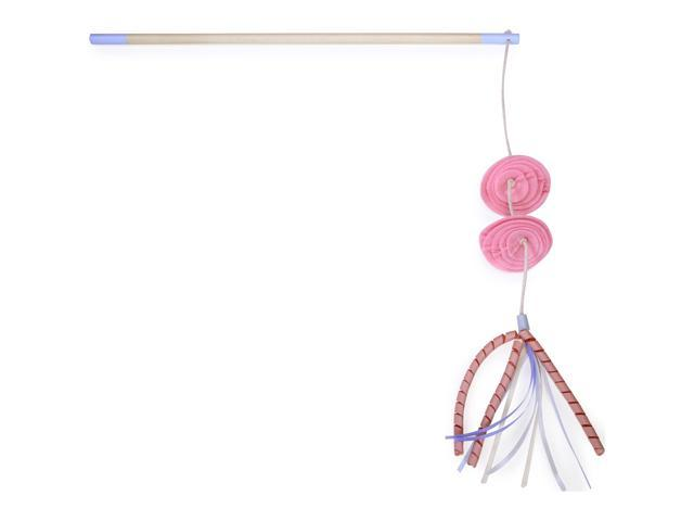 Loved Ones Flower Feather Bloom Cat Wand-Pink
