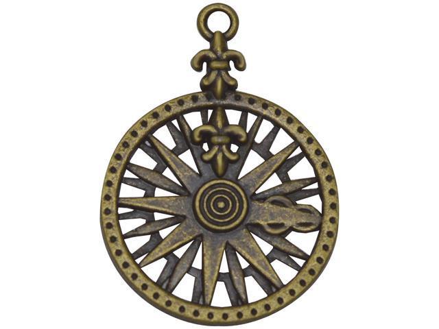 Brass Embellishments 25/Pkg-Compass