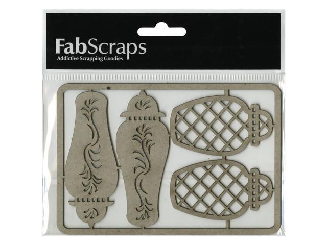 Die-Cut Gray Chipboard Embellishments-Ginger Jars 4/Pkg, 3.5