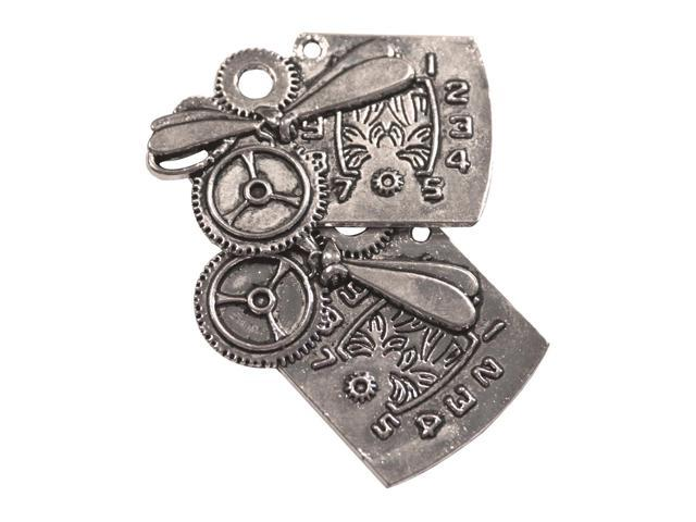 Silver Embellishments 15/Pkg-Dragonfly Cogs