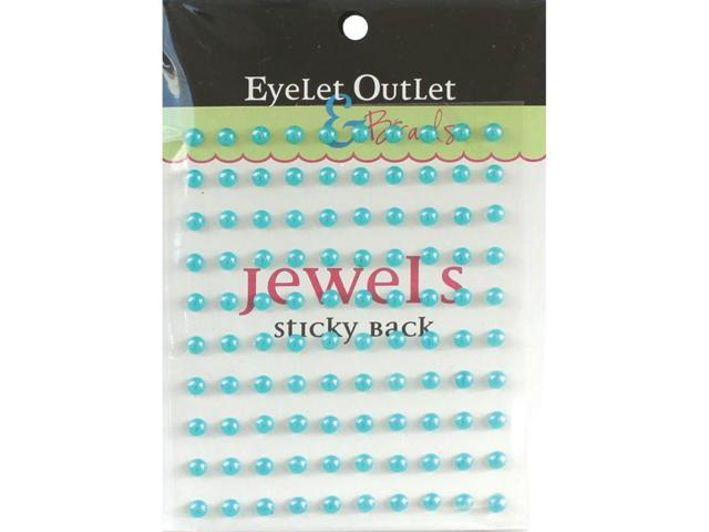 Bling Self-Adhesive Pearls 5Mm 100/Pkg-Blue